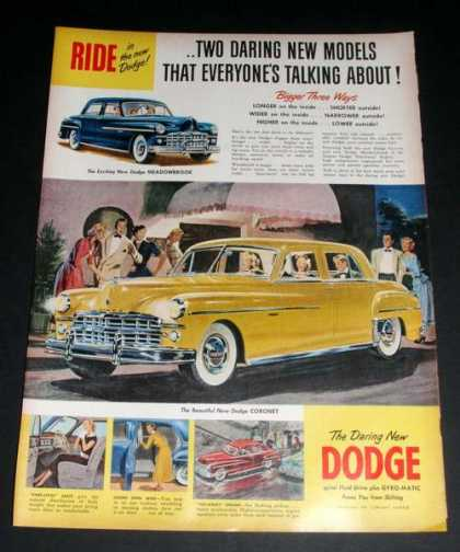 "Dodge Coronet, ""Daring New Model"" Ex (1949)"