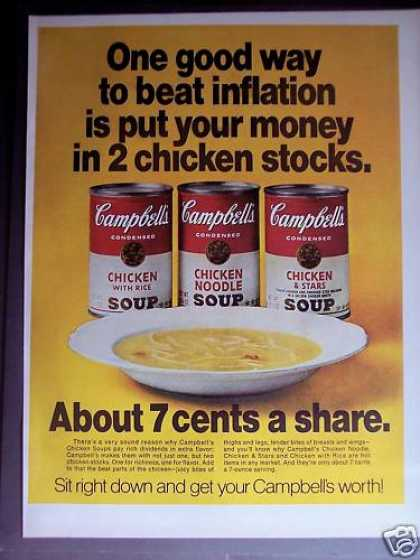 Campbell's Chicken Soup 7 Cents a Share (1970)