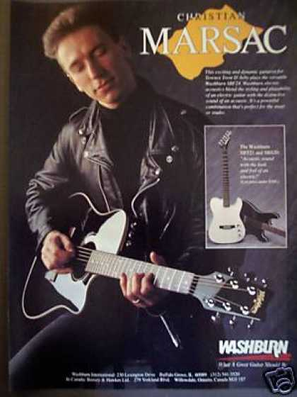 Christian Marsac Photo Washburn Sbt21 Guitar (1988)