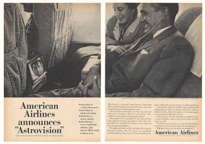 American Airlines Introduces Astrovision TV 2-P (1964)
