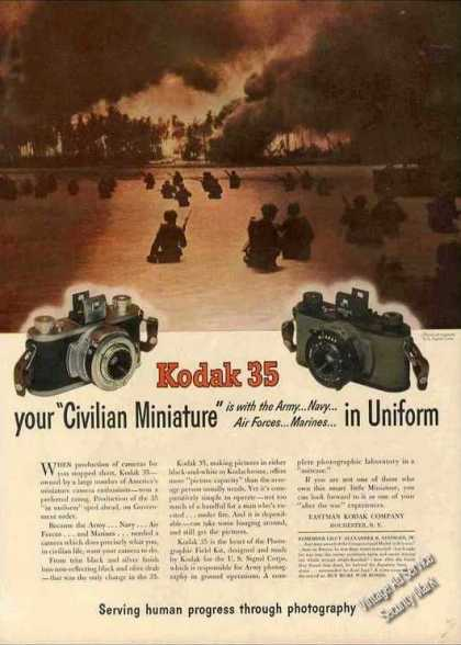 "Kodak 35 Camera ""Your Civilian Miniature"" Wwii (1944)"