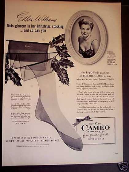 Bur-mil Cameo Nylons Esther Williams (1952)