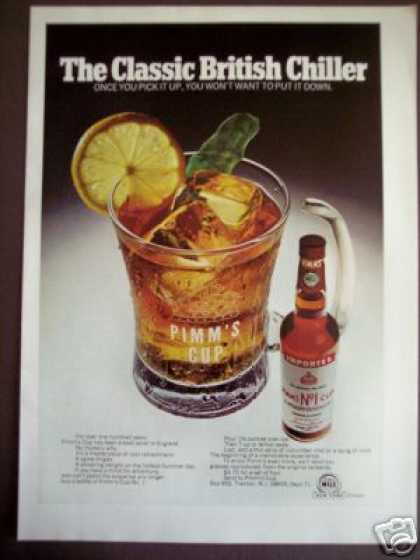 Pimm's No. 1 Cup Gin Sling British Chiller (1971)
