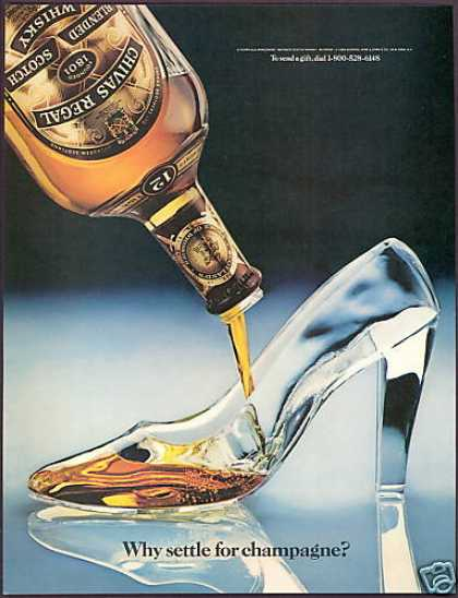 Glass Ladies Shoe Photo Chivas Regal Scotch (1984)