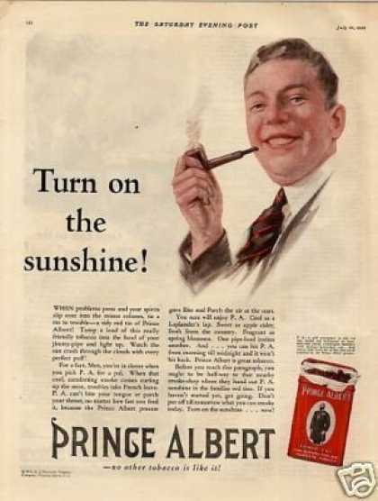 "Prince Albert Tobacco Color Ad ""Turn On The... (1926)"