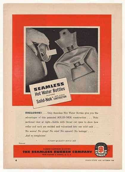 '48 Seamless Rubber Solid-Nek Hot Water Bottle Trade (1948)