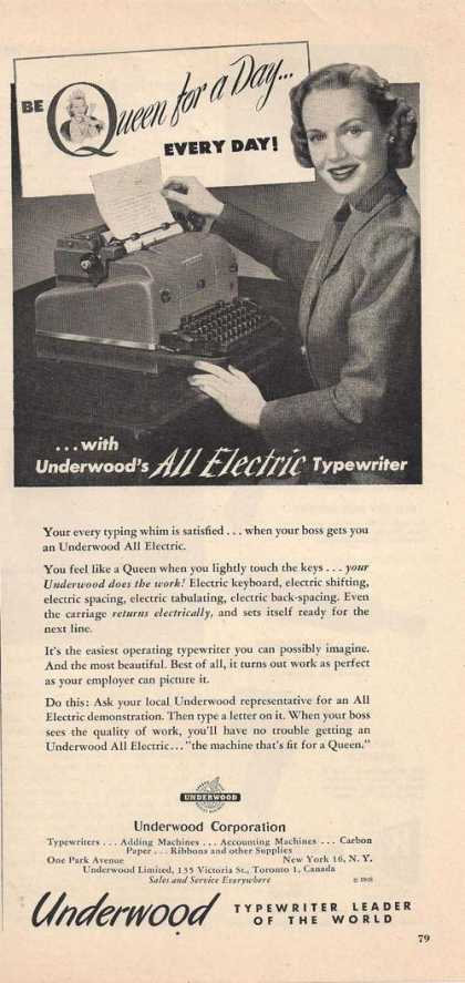 Underwood All Electric Typewriter (1948)