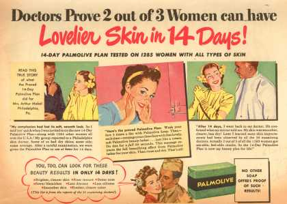 Palmolive Company's Palmolive Soap – Doctors Prove 2 out of 3 Women can have Lovelier Skin in 14 Days (1944)