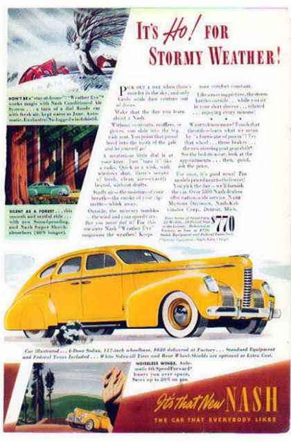 Nash Car – Sceaniccruiser – 4 Door Sedan (1939)