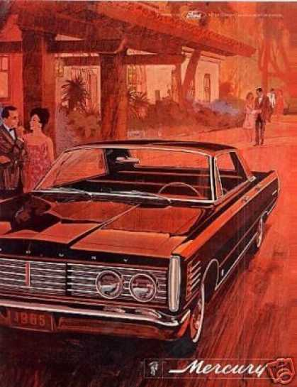 Mercury Car Ad Centerfold (1965)