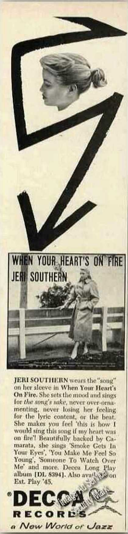 Jeri Southern Photo Rare Decca Records (1957)