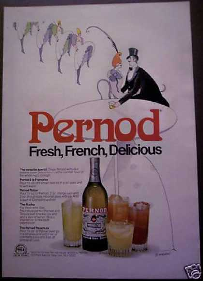 Julius While Pernod Whisky Art By Groedel (1975)
