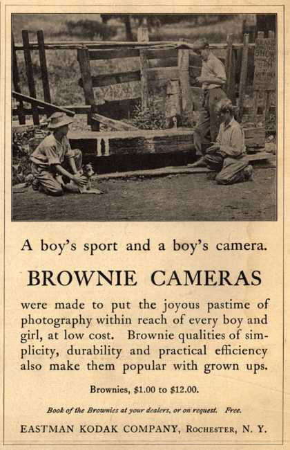 Kodak's Brownie cameras – A boy's sport and a boy's camera. Brownie Cameras. (1913)