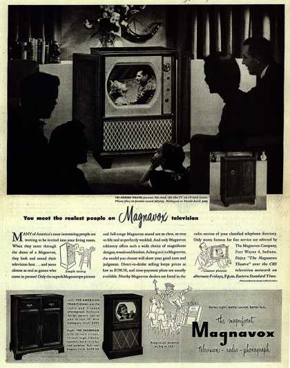 Magnavox Company's Television – You meet the realest people on Magnavox television (1950)