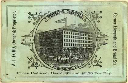Ford's Hotel's hotel – Ford's Hotel