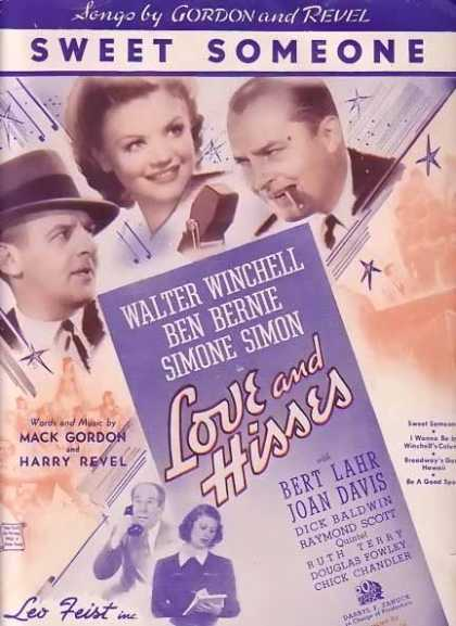 Sweet Someone – Love and Hisses Movie Sheet Music (1937)