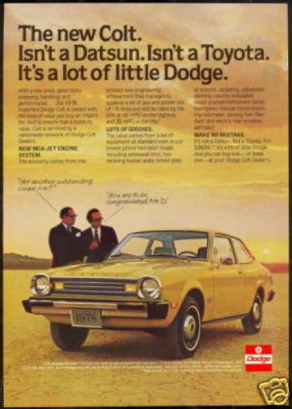 Dodge Colt Two Door Car Photo Vintage (1978)