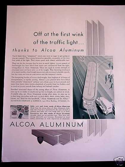 Aluminum Street Car Construction Alcoa (1932)