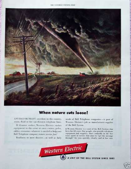 Western Electric Tornado Farm Nature Cuts Loose (1950)