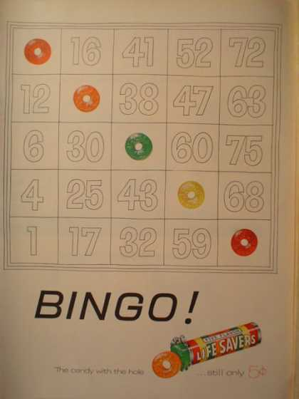 Lifesavers rainbow flavors Bingo Theme (1955)