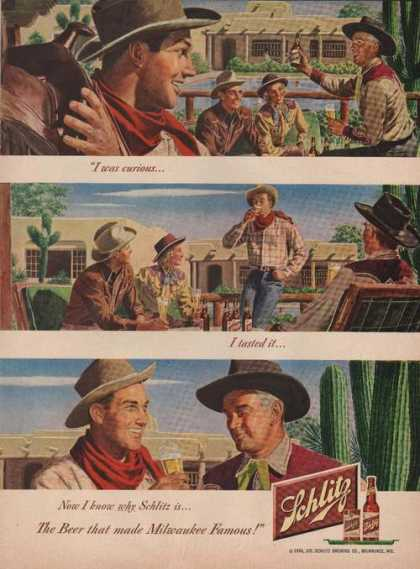 Schlitz Beer Cowboys In the Desert (1949)