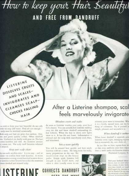 Listerine Corrects Dandruff Sets the Wave (1933)