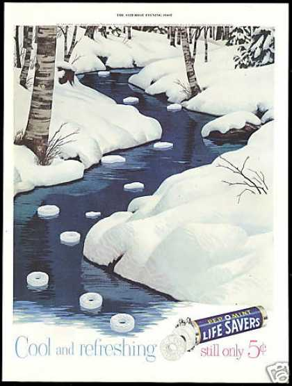 Pepomint Life Savers Candy Snow River (1954)