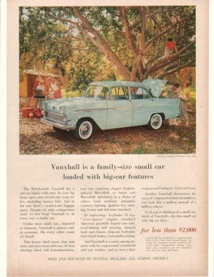 British Built Blue Vauxhall Family Camping (1960)