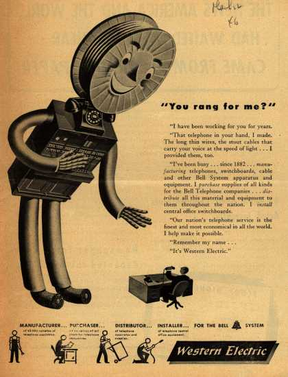 "Western Electric's Corporation – ""You rang for me?"" (1946)"