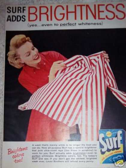 Surf Detergent Red & White Art (1957)