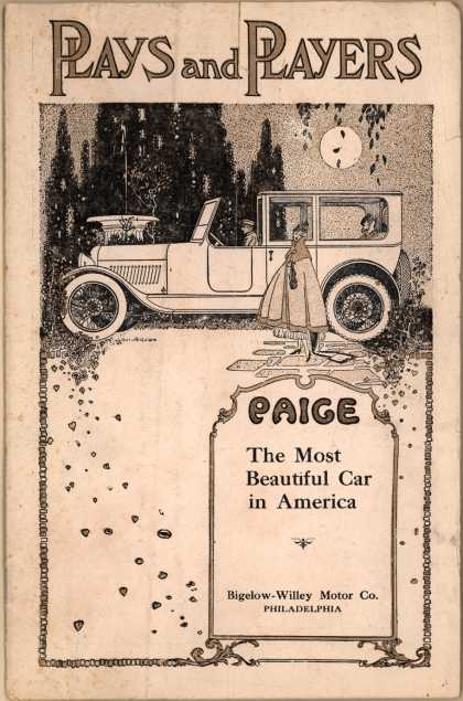 Bigelow-Willey Motor Co.'s Paige, the most beautiful car in America – Plays and Players Paige: The Most Beautiful Car in America (1917)