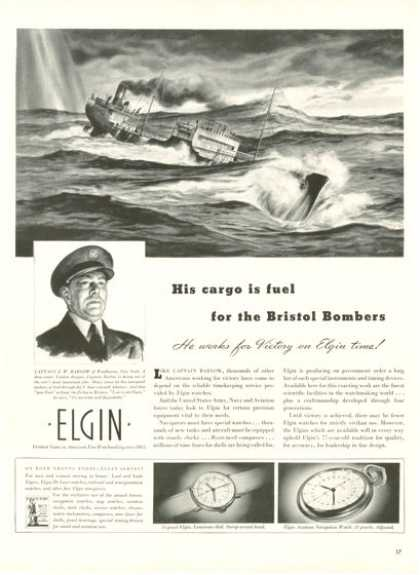 Elgin Aviation Navigation Pocket Watch (1942)