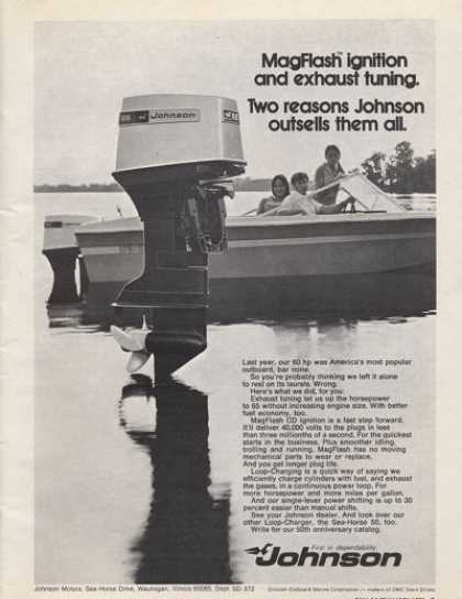 Johnson Outboard Motor Speed Boat (1972)