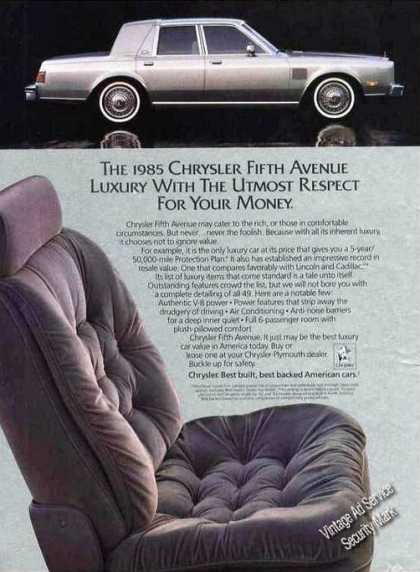 "Chrysler Fifth Venue ""Luxury With Respect"" (1985)"