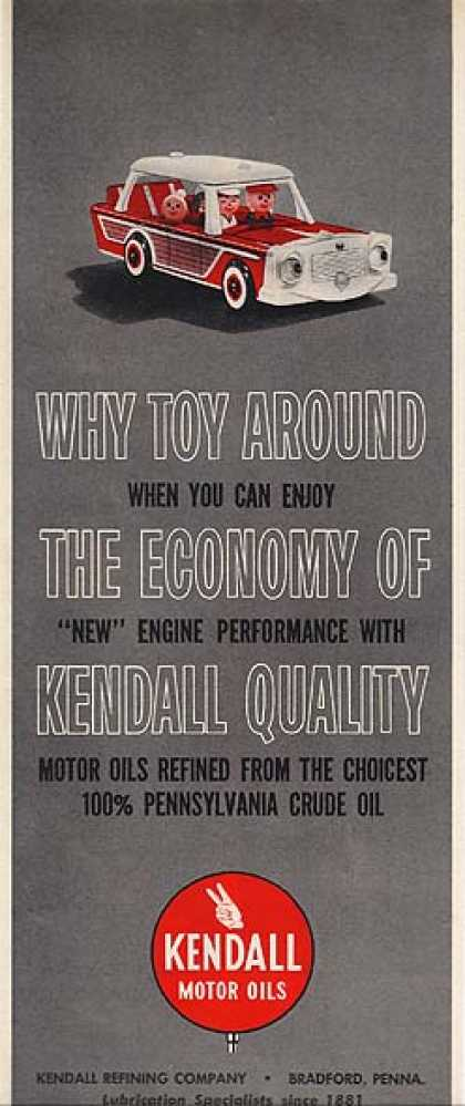 Kendall's The choicest 100% Pennsylvania Crude Oil (1962)
