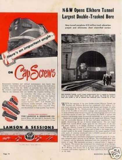 """N&w Opens Elkhorn Tunnel..."" Article (1950)"