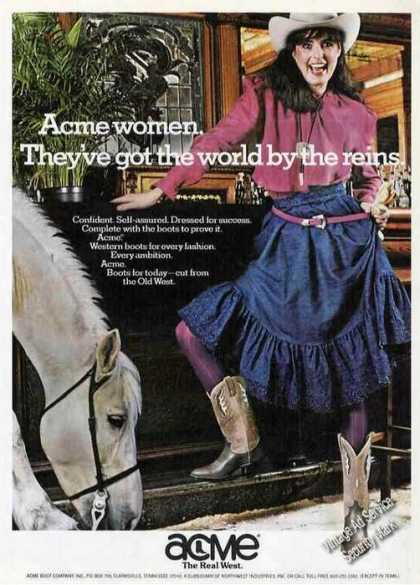 Acme Women World By the Reins Boots (1981)