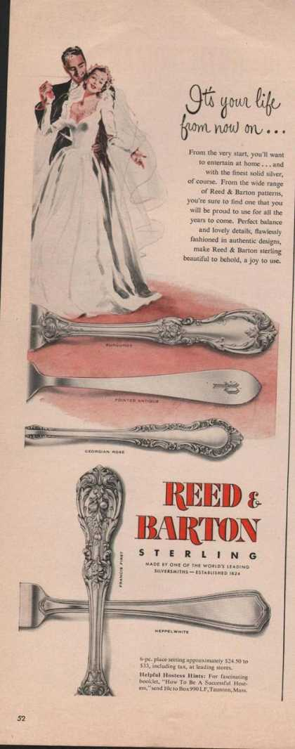 Reed & Barton Sterling Silverware (1950)