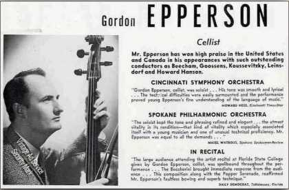 Gordon Epperson Photo Cellist Trade (1951)