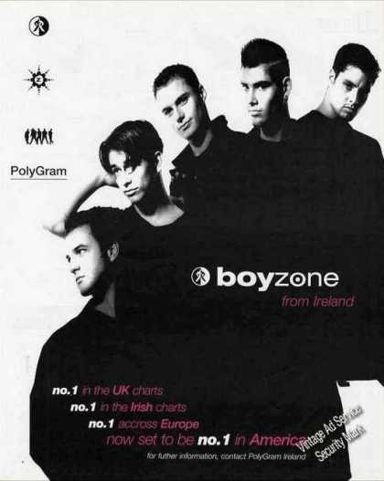 Boyzone From Ireland Group Photo Music (1995)