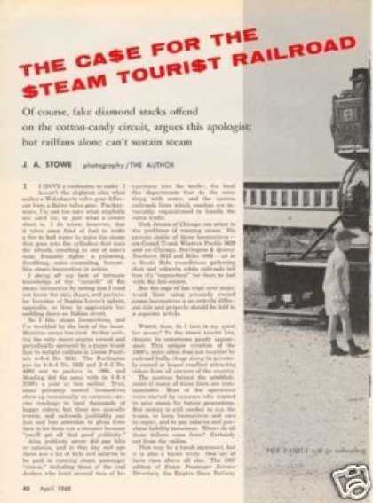 """The Case for the Steam Tourist Railroad"" Article (1968)"