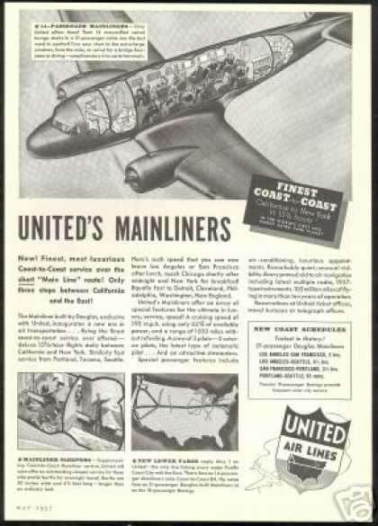 United Airlines Mainliner Vintage (1937)