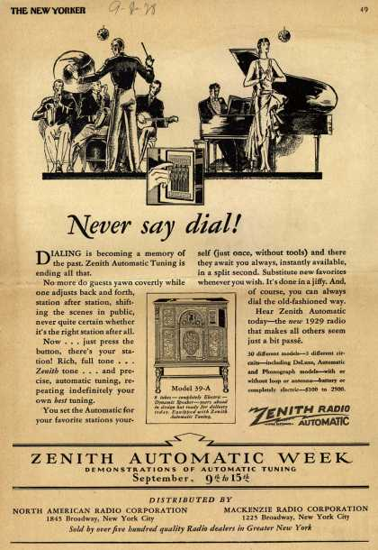 Zenith Radio Corporation's Zenith Automatic Radio – Never Say Dial (1928)