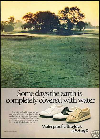 Golf Foot Joy Waterproof Shoes Green (1987)