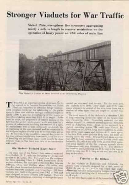 """Stronger Viaducts for War Traffic"" Article/nkp (1944)"