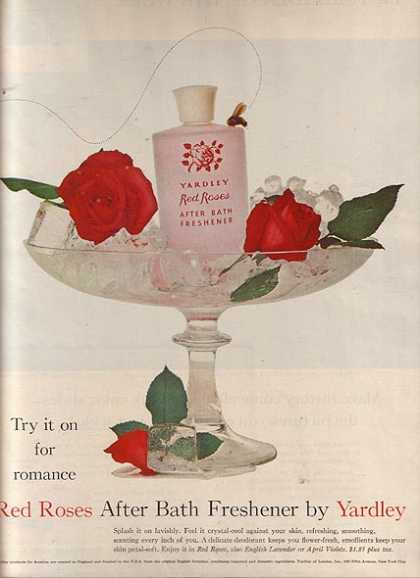 Yardley&#8217;s Red Roses After Bath Freshener (1960)