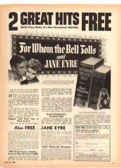 Book League of America – Jane Eyre (1944)