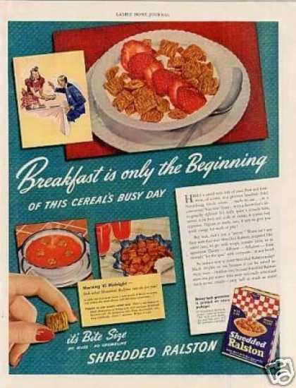 Shredded Ralston Cereal (1941)