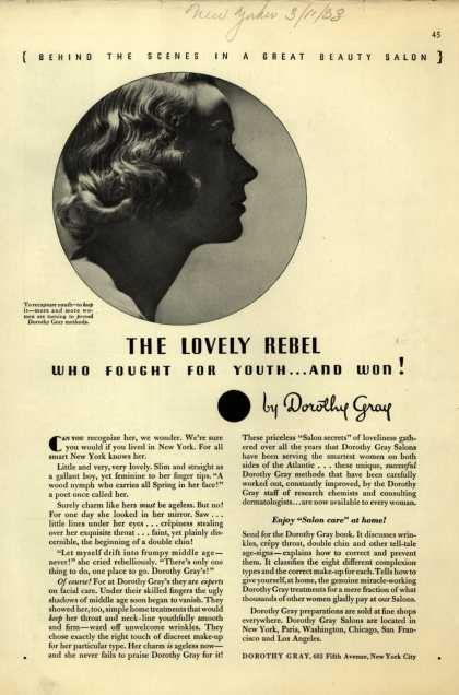 Dorothy Gray – The Lovely Rebel Who Fought For Youth...And Won (1933)