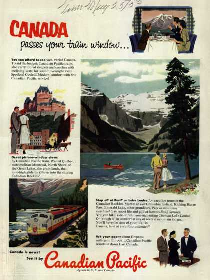 Canadian Pacific's Canada – Canada passes your train window... (1953)